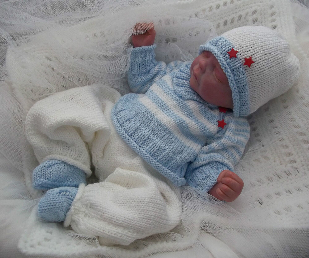 Knitting Pattern Boy Doll : DK Baby Knitting Pattern #46 TO KNIT Boys or Reborn Dolls ...