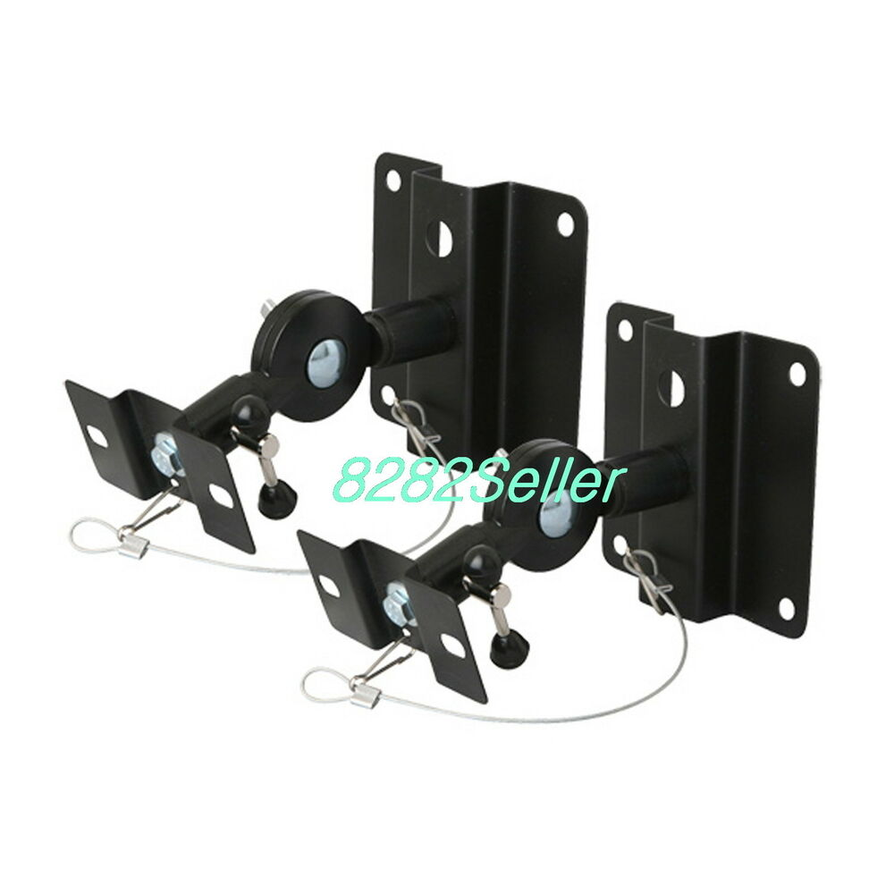 2pcs Mount Bracket Wall Ceiling Satellite Speaker Home