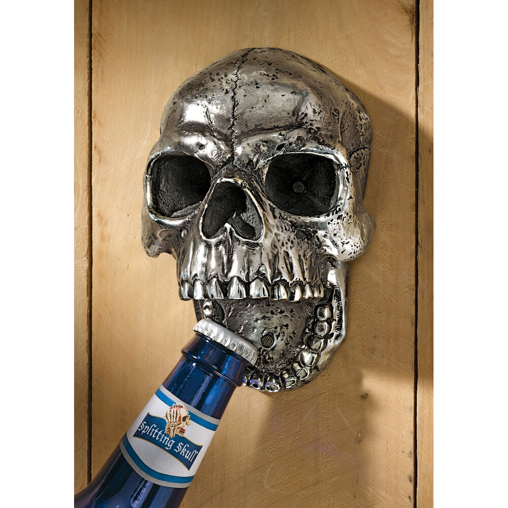 Grim Reaper Gothic Realm Wall Mounted Human Skull Replica ...