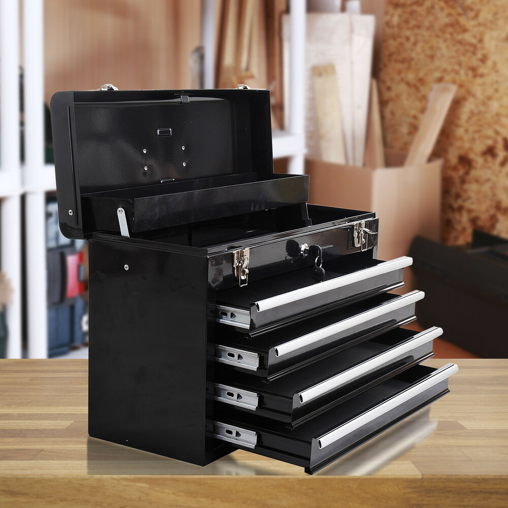 Portable Toolbox Tool Box Chest Cabinet Garage Storage