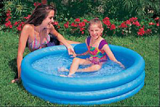3 ring childrens paddling pool ideal outdoor fun for the for Family paddling pool