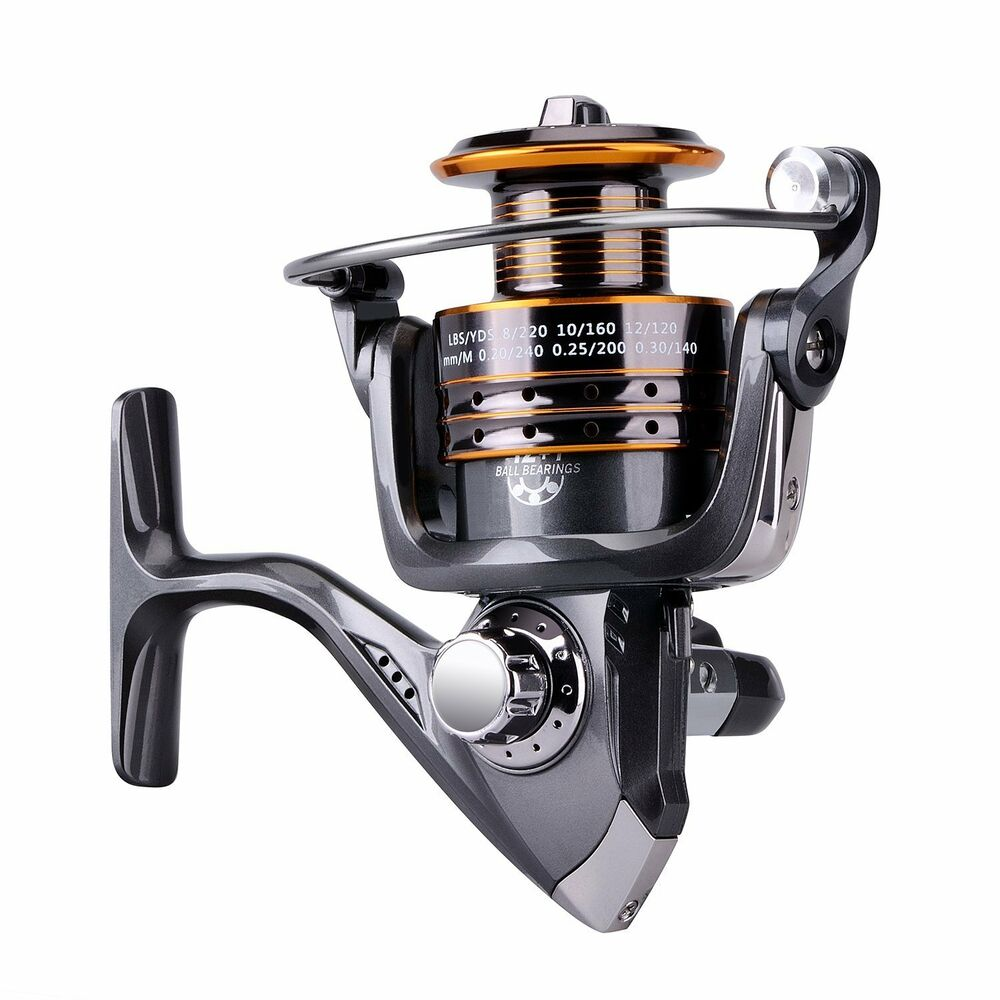 Spool 12 1bb ball bearings spinning fishing reel reels ebay for Ebay fishing reels