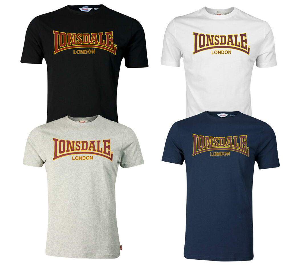 lonsdale classic t shirt flock print logo 100 cotton. Black Bedroom Furniture Sets. Home Design Ideas