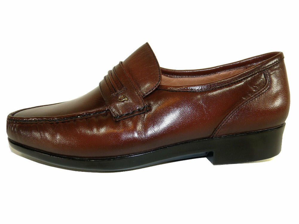 French Shriner Men S Nelson Tan Leather Slip On Loafers