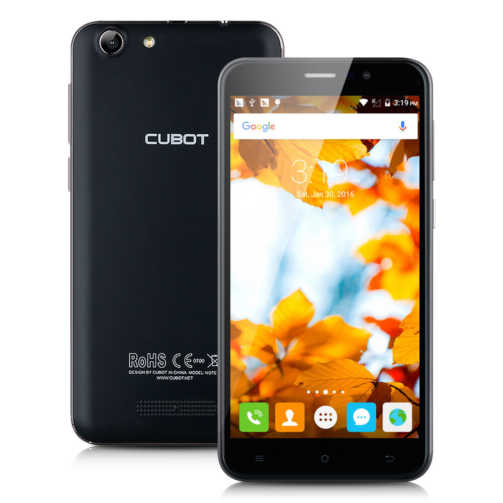 Unlocked 3G Smart Phone 5.5'' CUBOT NOTE S Android 6.0 Quad Core Dual SIM 16GB