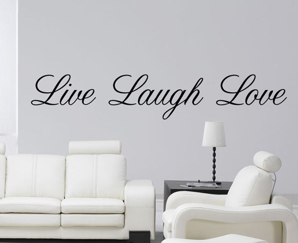 live laugh love wall art sticker vinyl decal quote wall decal ebay. Black Bedroom Furniture Sets. Home Design Ideas