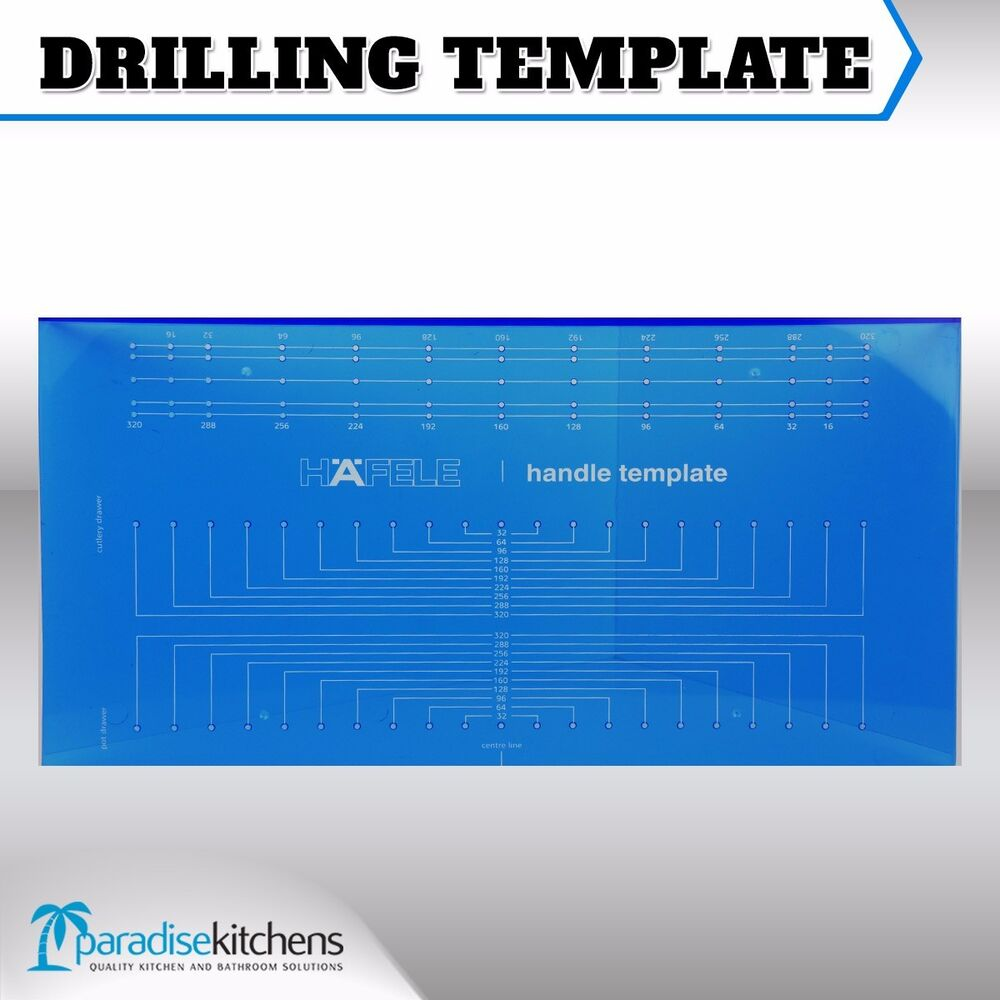 Drilling Jig Template For Handles Cupboard Knobs Cabinet
