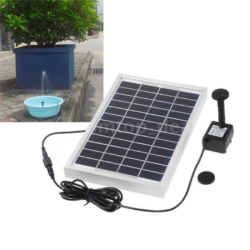 Solar power fountain pond water pump brushless 29x25cm for Solar water pump pond
