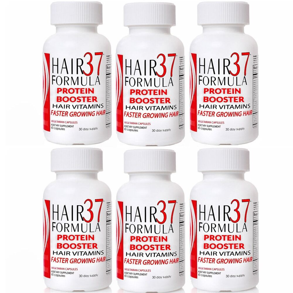 hair formula 37 protein booster 6 bottles fast hair growth thinning hair loss ebay. Black Bedroom Furniture Sets. Home Design Ideas