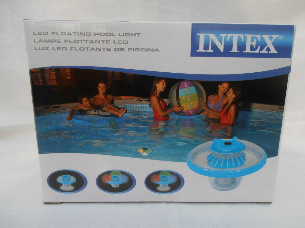 intex floating led hot tub spa pool light flood or disco light ebay. Black Bedroom Furniture Sets. Home Design Ideas