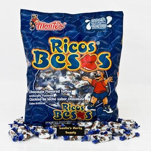 Montes Ricos Besos Chocolate Flovored toffee Candies 6oz