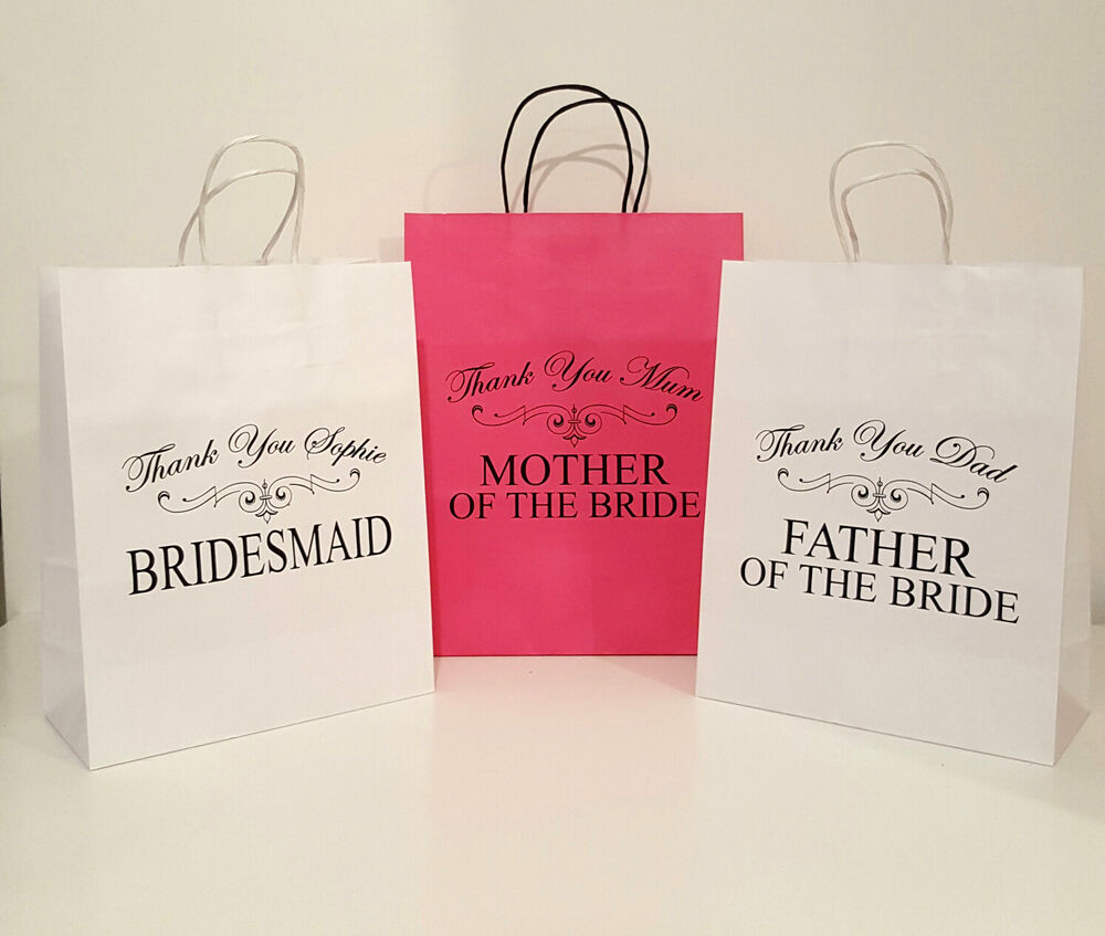Personalised Wedding Gift Bags Uk : ... Man Usher Father of Bride Personalised Wedding Gift Bag 22x28cm eBay