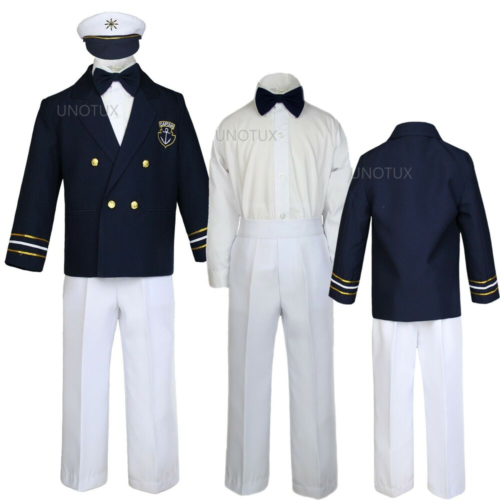 Baby Boy Toddler Captain Sailor Suits Formal Party Gift
