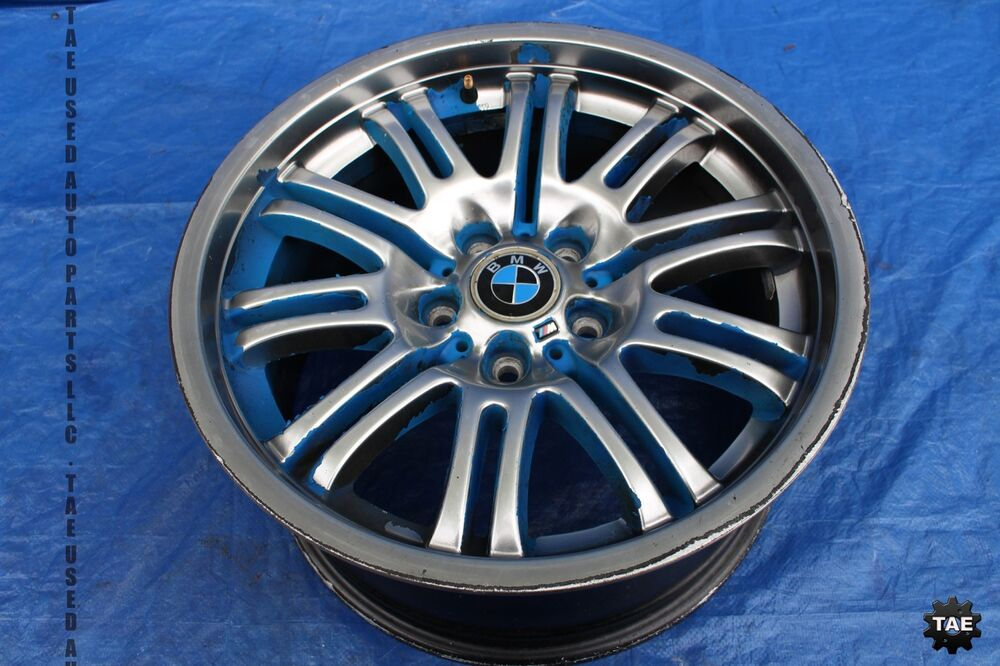 2002 Bmw M3 Oem Factory Alloy Wheel Rim Assembly  9043