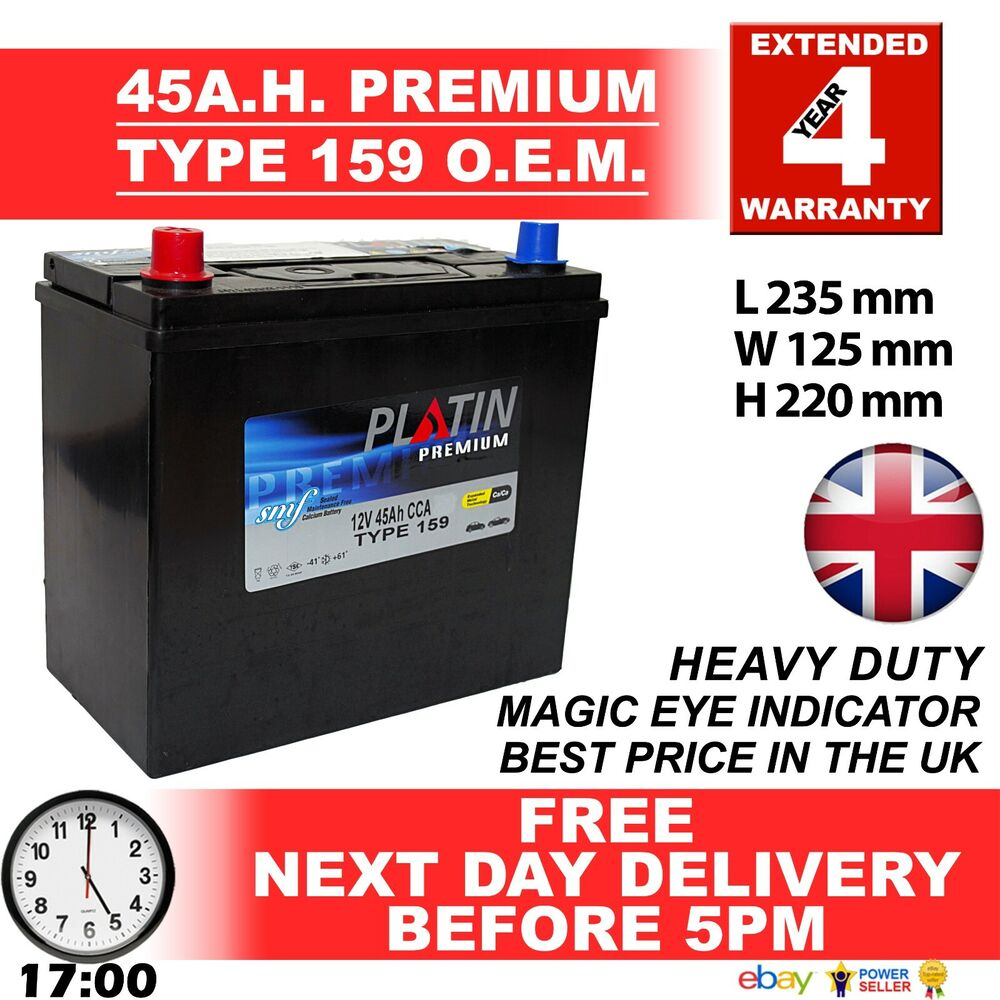 Type 159 Car Battery 330CCA Lion Batteries 45Ah 3 Years Warranty OEM Replacement