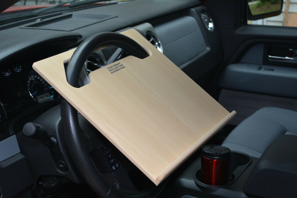 Auto ipad car laptop tablet notepad steering wheel n desk vehicle tray stand ebay - Notepad holder for car ...
