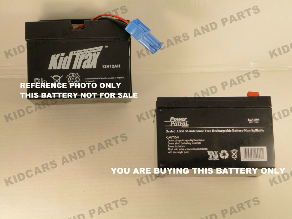 Kid Trax Type 12 Volt Bare Replacement Battery For
