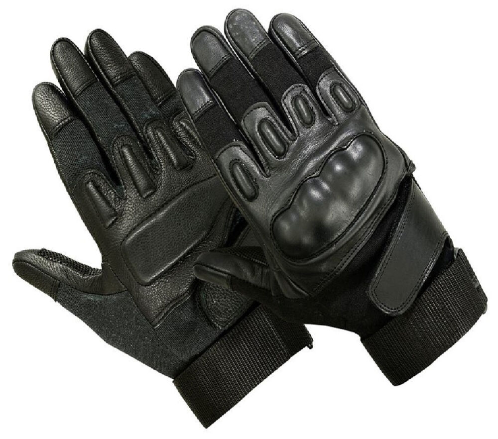 Black leather combat gloves - Tactical Combat Nomex Kevlar Fire Cut Resistant Shooting Gloves 2 Styles