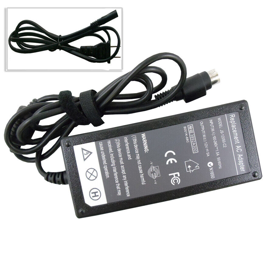 4 Pin 12v 5a Ac Adapter Charger For Sanyo Clt2054 Lcd Tv