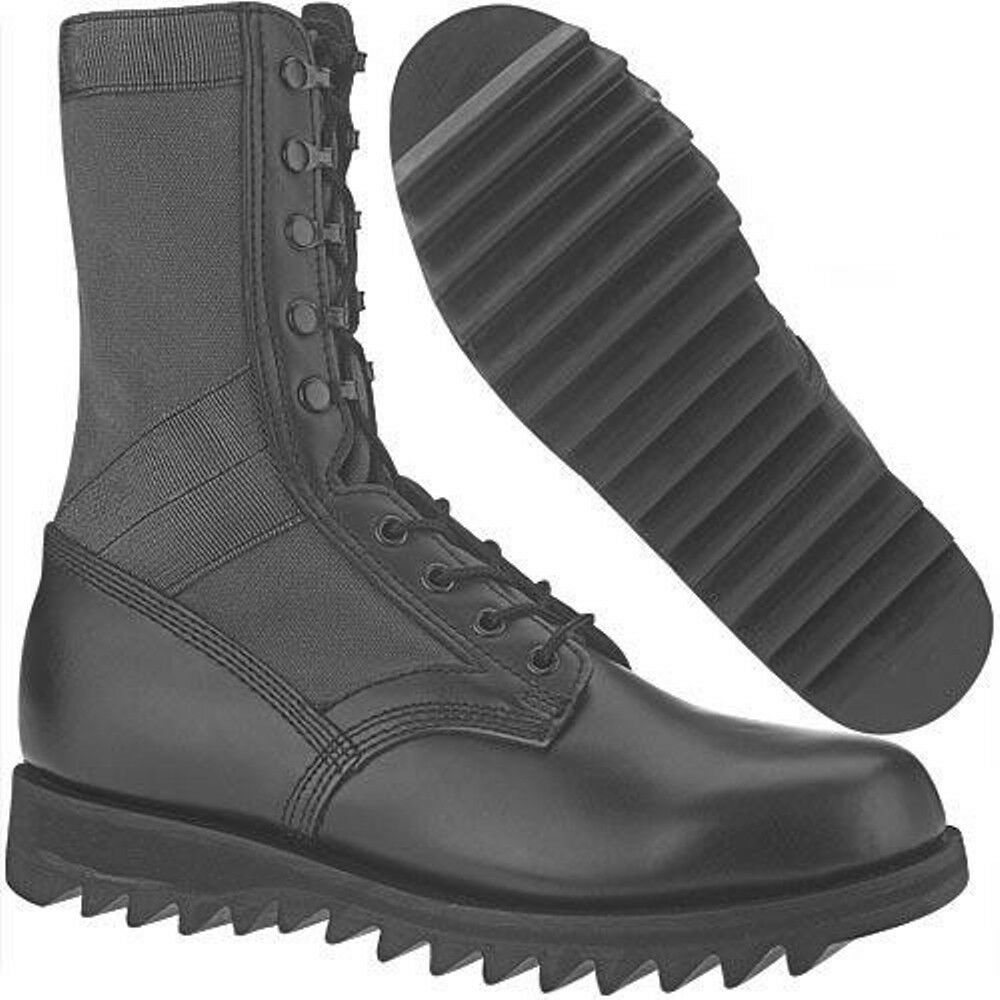 altama leather jungle boot ripple sole boots army black