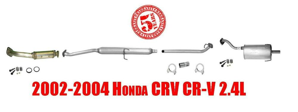 02 04 honda crv converter pipe muffler tail pipe gaskets. Black Bedroom Furniture Sets. Home Design Ideas