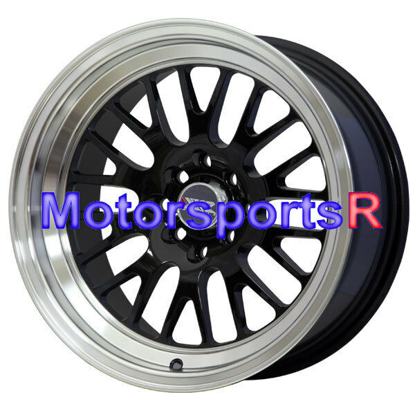 XXR 531 16 16x8 Black Wheels Rims Deep Dish 4x114.3 Stance