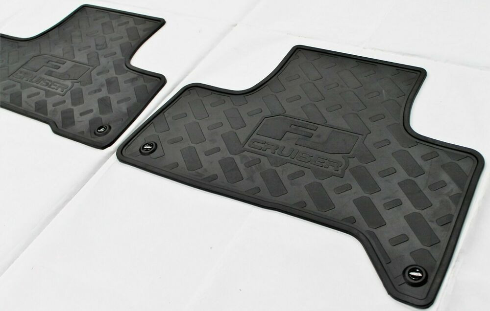 toyota fj cruiser floor mats rear rubber from 2011 gsj15. Black Bedroom Furniture Sets. Home Design Ideas