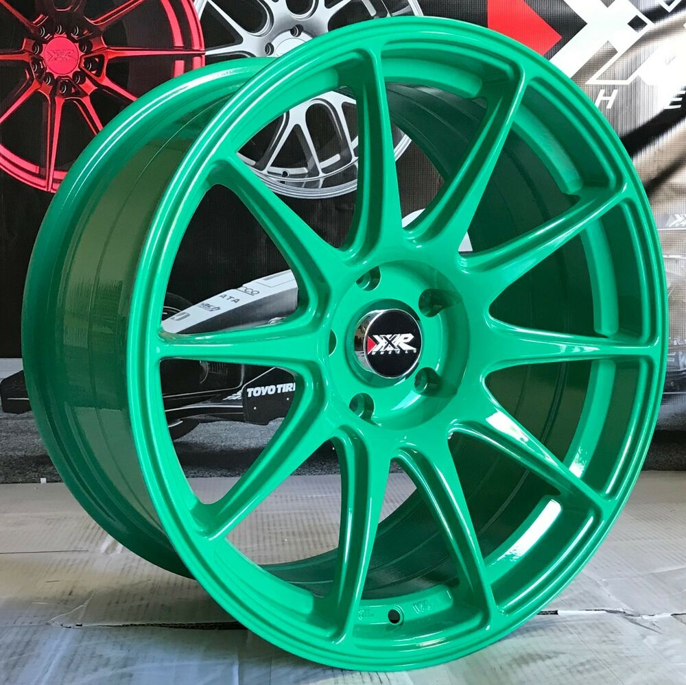 XXR 527 Green 18 18x8.75 S Concave Rims Wheels 5x114.3 04