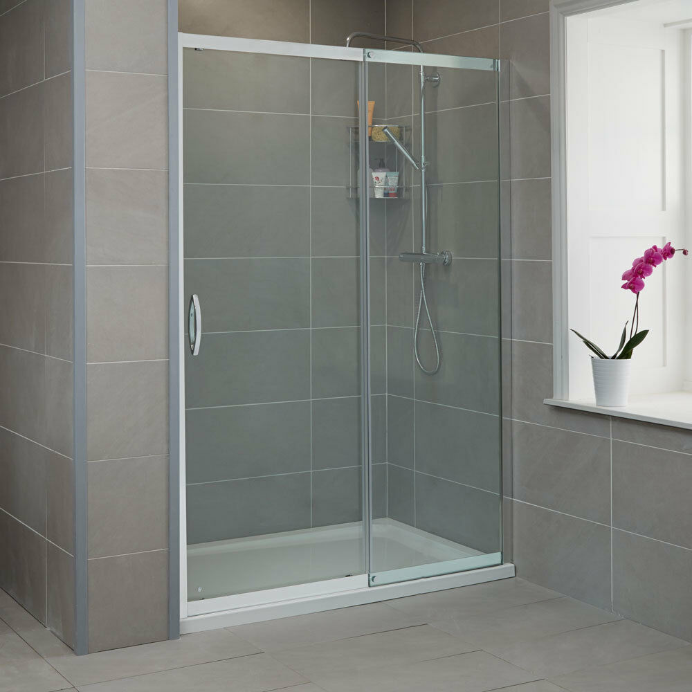 8mm Glass Sliding Shower Door Enclosure Bathroom Cubicle Screen Universal Fit Ebay
