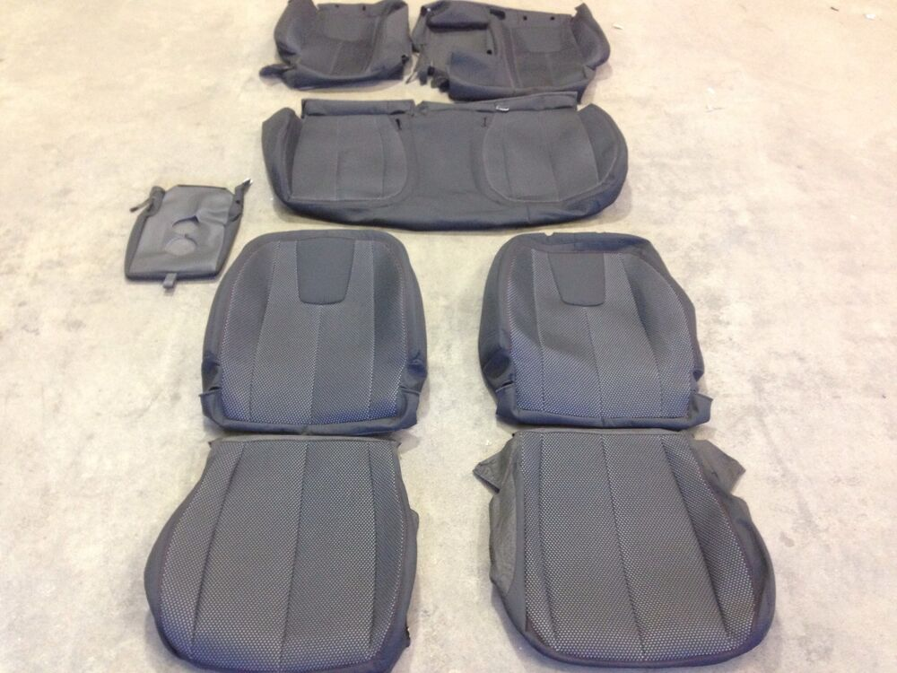 Factory Oem Cloth Seat Cover Covers Ebony Chevrolet