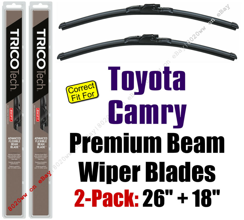 wiper blades 2 pack premium beam wipers fit 2012 2016 toyota camry 19260 180 ebay. Black Bedroom Furniture Sets. Home Design Ideas