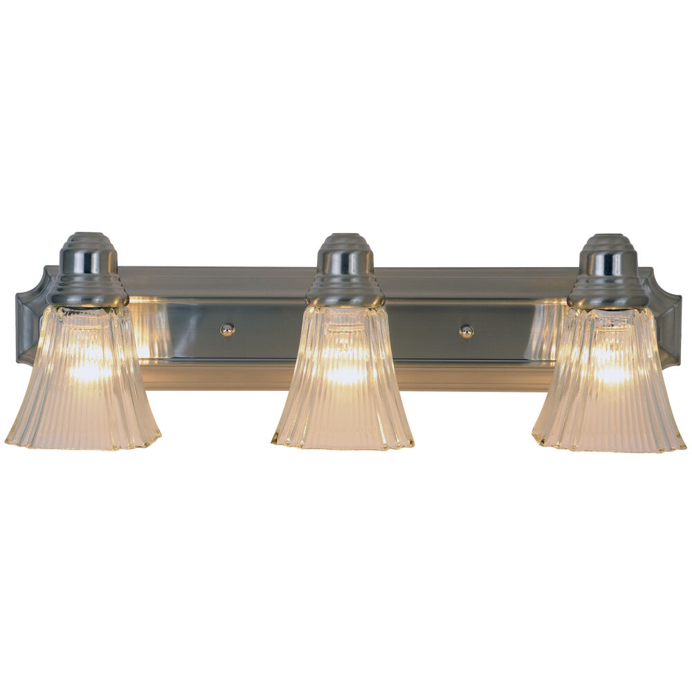 Monument lighting 617052 24 3 light decorative vanity - Brushed bronze bathroom light fixtures ...