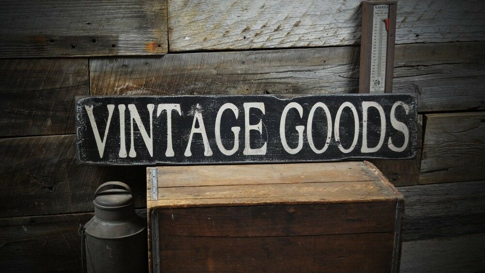 Vintage Goods Distressed Wood Sign - Rustic Hand Made ...