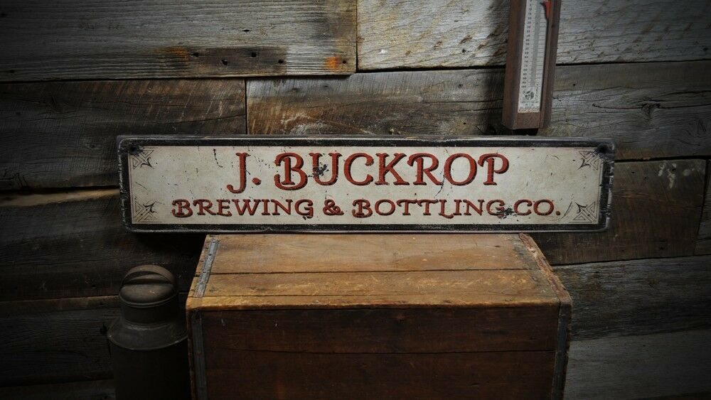 Personalized Street Signs >> Custom Brewing & Bottling Wood Sign - Rustic Hand Made ...