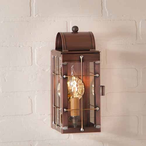 Malibu Brightscapes Landscape Lighting Antique Copper: Cape Cod Wall Lantern In Solid Antique Copper