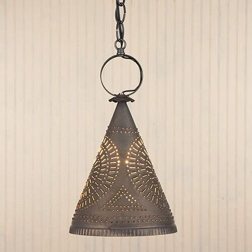 Madison Witch's Hat Light In Blackened Tin