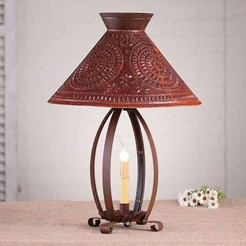 Country Lamps Lighting: Betsy Ross Primitive Country Table Lamp In Rustic Tin W