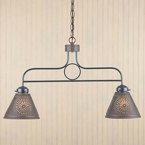 Irvins Country Tinware Hanging Kitchen Pendant Light In