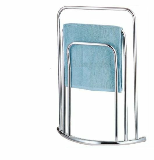 Large 3 Tier Bar Chrome Towel Stand Rack Holder Free