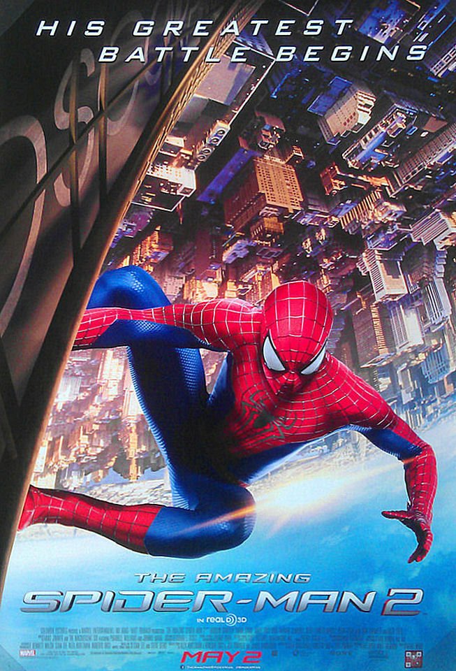 the amazing spiderman 2 11x17 ds original promo movie