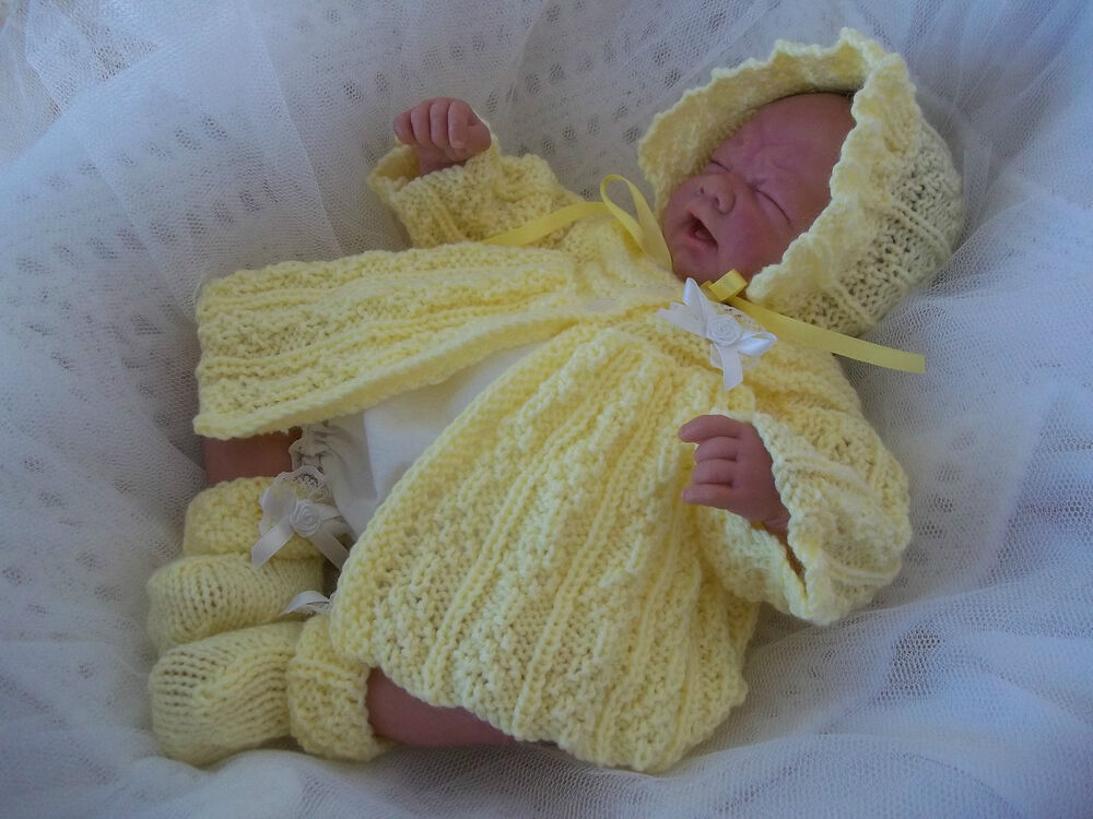 Free Teddy Knitting Patterns : DK Knitting Pattern 18a TO KNIT Early Baby Girl 14-16