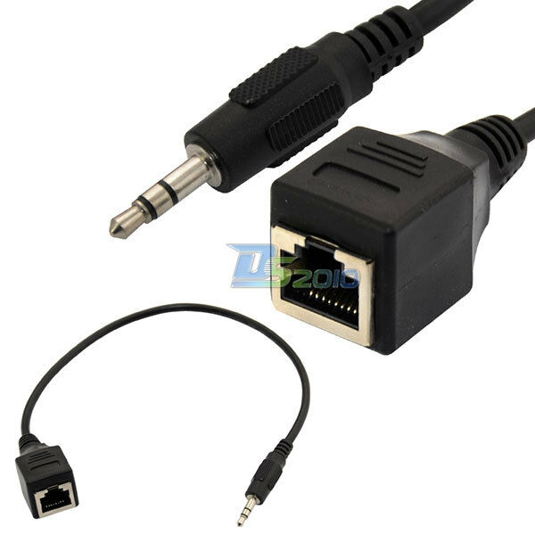 Ethernet Cable Speaker Wire : Mm quot male plug audio cable to rj socket ethernet