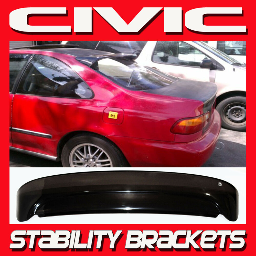 92 95 Civic Coupe Rear Roof Window Visor With Stability