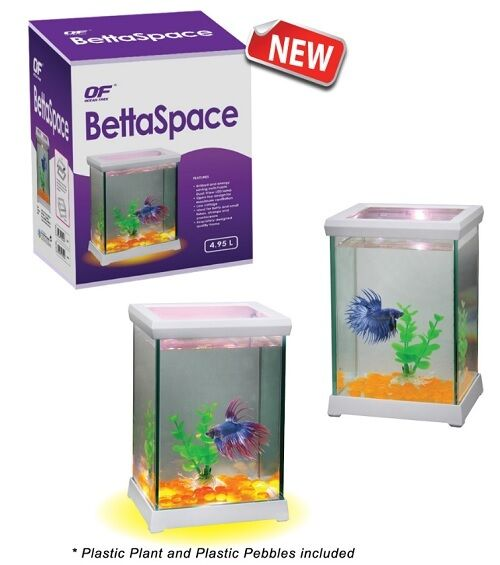 Ocean free betta space fish tank aquarium with led light for Betta fish tank light