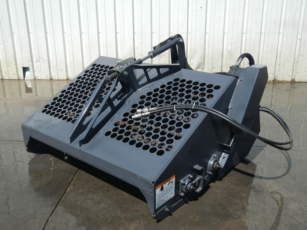 Landscape Rake For Bobcat : B landscape power rake attachment for skid steer bobcat