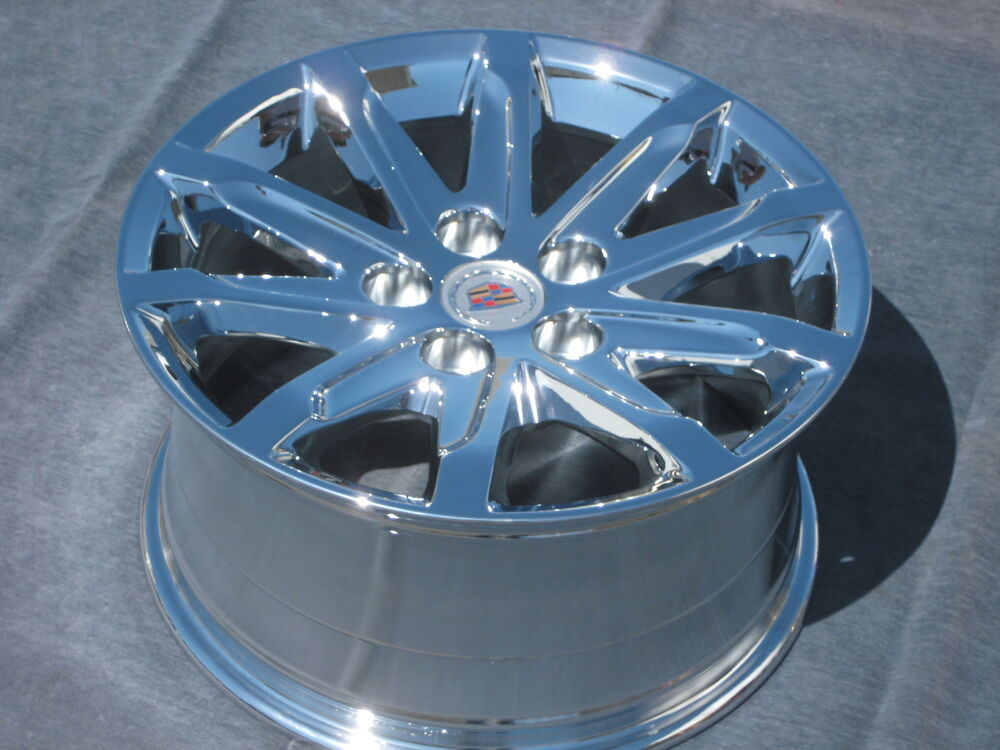 "SET OF 4 NEW 17"" FACTORY CADILLAC CTS SEDAN 2.0 CHROME OEM WHEELS RIMS 2008-15 