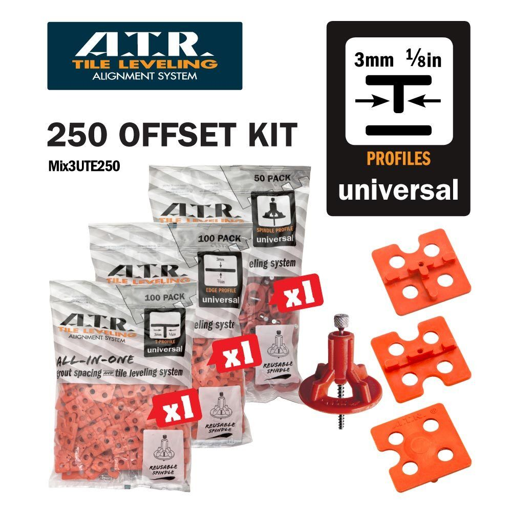 Atr Tile Leveling Alignment System 3mm Offset Diy Kit Use