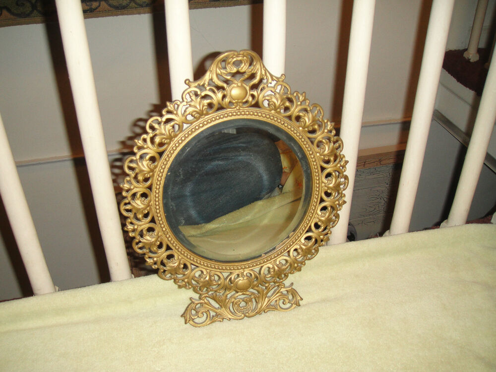 Antique victorian style beveled glass wall mirror gilded for Antique style wall mirror