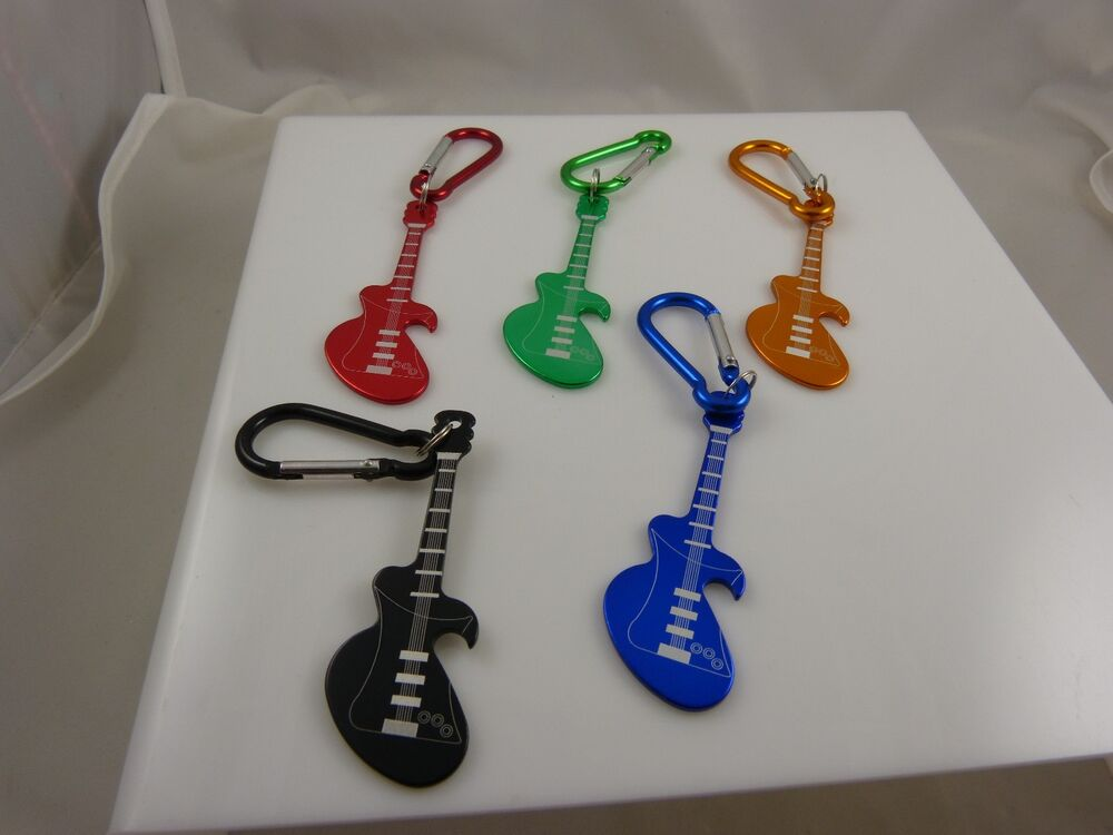 guitar shape bottle opener key chain keychain cool great for musician player ebay. Black Bedroom Furniture Sets. Home Design Ideas