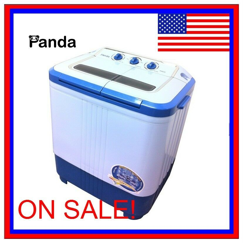 Panda portable small compact washing machine washer spinner 7lbs pan30 ebay - Small space washing machines set ...